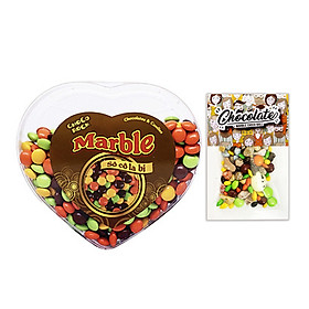 Hộp Trái Tim Kẹo Socola Choco Rock Đủ Vị - Chocolate Candy - Tặng Kèm Gói Choco Rock