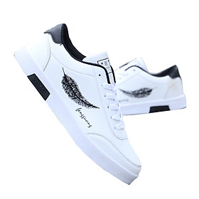 Giày Nam Thể Thao Sneaker Vải Dệt Cực Chất Đế Cao Su Nguyên Khối Siêu Êm Họa Tiết Lông Vũ CTS-GN026