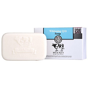 Xà Phòng 2 Trong 1 Dưỡng Trắng và Trẻ Hóa da Scentio Milk Plus Q10 100g