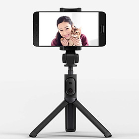 Xiaomi Black Foldable Tripod Selfie Stick Bt With Wireless Button Shutter Selfie For iOS/Android