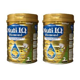 Bộ 2 Lon Sữa bột NUTI IQ Diamond số 2 cho trẻ từ 6-12 tháng - 400g
