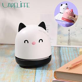 Uareliffe Portable Desktop Cleaner Mini Cute Cat Design Desk Vacuum Cleaner Handheld Keyboard Computer Cleaner For Office School Home