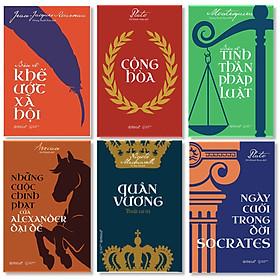 Bộ 6 Cuốn Kinh Điển : Bàn Về Khế Ước Xã Hội + Cộng Hòa + Bàn Về Tinh Thần Pháp Luật + Những Cuộc Chinh Phạt Của Alexander Đại Đế + Quân Vương – Thuật Cai Trị + Ngày Cuối Trong Đời Socrates