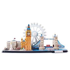 Bộ đồ chơi mô hình lắp ráp 3D - Mẫu Đô thị London, Vương Quốc Anh