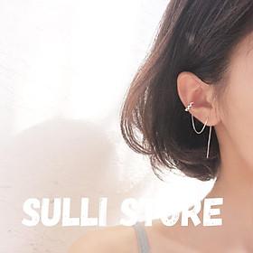 Khuyên tai nữ kẹp vành đá Sulli store