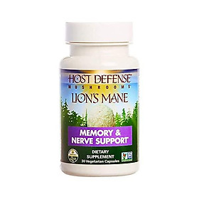 Host Defense, Lion's Mane Capsules, Promotes Mental Clarity, Focus and Memory, Daily Mushroom Supplement, Vegan, Organic, Gluten Free, 120 Capsules (60 Servings)