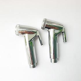 Bộ 2 tay vòi xịt vệ sinh Nhựa ABS si inox đẹp