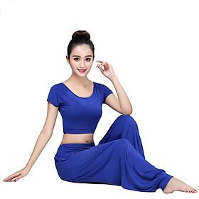 Bộ đồ tập thể thao Yoga Alibaba múa bụng KIP22 cực đẹp - Vải thun co dãn 4 chiều