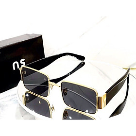 Kính râm Mắt vuông retro phong cách hiện đại thời trang cho Nam và Nữ + tặng Tuavit móc khóa mini