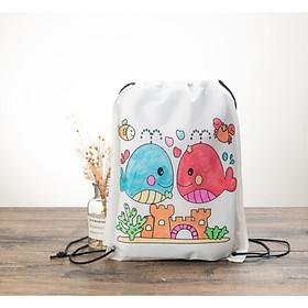 Balo tự tô màu bằng vải giấy cho bé tư duy màu sắc và sáng tạo đồng thời bảo vệ môi trường