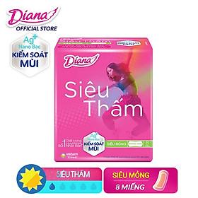 Băng vệ sinh Diana siêu thấm Cool Fresh không cánh 8 miếng
