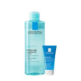 Bộ sản phẩm nước tẩy trang làm sạch sâu giàu khoáng dành cho da dầu mụn La Roche Posay Effaclar Micellar Water Oily Skin