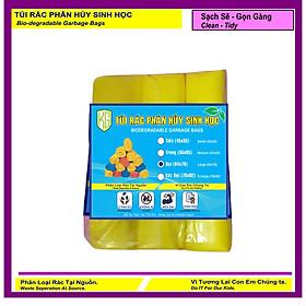 Set 1 Kí Bao Rác Tự Hủy Sinh Học - Phân Hủy Sinh Học - Dạng Cuộn - 3  Size - MÀU VÀNG- Kiều Gia  / Set 1 Kilogram Of Bio-degradable Trash Bags - In Rolls - 3 Sizes - COLOR YELLOW