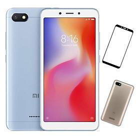 Bộ Điện Thoại Xiaomi Redmi 6A (16GB / 2GB) + Dán Cường Lực 5D Full Màn + Ốp Lưng - Hàng Nhập Khẩu