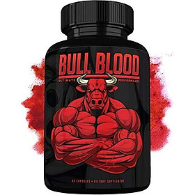 Bull Blood Male Pills - Enlargement Booster for Men - Increase Size, Strength, Stamina - Energy, Mood, Endurance Boost - All Natural Performance Enhancing Supplement - 60 Capsules - Made in USA