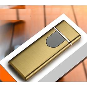 Bật lửa điện hồng ngoại Lighter bật lửa cảm ứng vân tay pin sạc, hộp quẹt hồng ngoại (Tặng Kèm Dây Cáp Sạc) BLĐ002