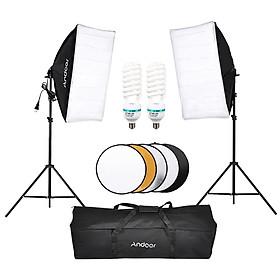 Bộ Thiết Bị Phòng Chụp Andoer (2x Đèn LED 135W + 2x Giá Đỡ Đèn + 2x SoftBox + 1x Tấm Hắt Sáng + 1x Túi Đựng)