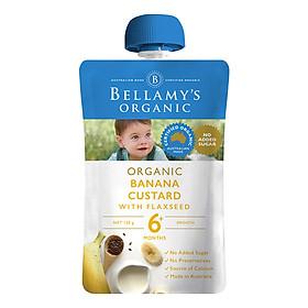 Hỗn Hợp Kem Sữa Chuối Với Hạt Lanh Hữu Cơ Bellamy's Organic (120g)