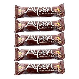 Ngũ Cốc Ăn Sáng Thanh Chocolate Alpen (5 Thanh x 29g)