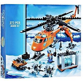 Xếp hình máy bay trực thăng thám hiểm Bắc Cực