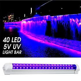 40LED DC 5V UV Ultraviolet Strip Light Bar Tube Decor Party Lamp Blacklight USB