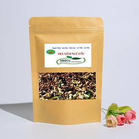 Trà mầm ngũ cốc ( Mầm gạo lứt huyết rồng, đậu đen xanh lòng, đậu đỏ, đậu xanh) - (MS) Tan mỡ bụng, lợi sữa, chống lão hóa da, ngủ ngon, ngừa tiểu đường ( 300g)