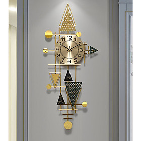 Đồng hồ phù điêu lá Ginkgo 8814, Đồng hồ phù điêu phòng khách, Đồng hồ cao cấp hiện đại, Đồng hồ treo tường pin AA