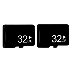 2 Pieces Standard Neutral High-Speed  TF Memory Card 32GB