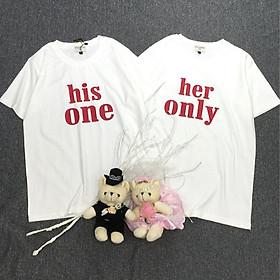 Áo thun đôi cao cấp chất liệu cotton 100% dành cho cặp đôi, thích hợp đi chơi, hẹn hò, chụp hình cưới C2.28