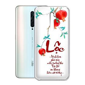 Ốp lưng điện thoại Oppo Reno 2F - 01251 7930 LOC01 - in chữ thư pháp LỘC - Silicon dẻo - Hàng Chính Hãng