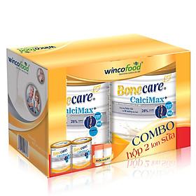 Combo 2 lon sữa bột Bonecare Calcimax+ 900g: dành cho người từ 18 tuổi trở lên bổ sung canxi phòng ngừa loãng xương, tim mạch và tiểu đường.