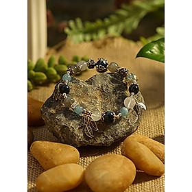 Hình đại diện sản phẩm Vòng Tay Phong Thủy Kyanite, Aquamarine, Hắc Nguyệt Quang Và Moonstone Hắc Nguyệt Thủy Quang