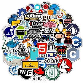 Bộ 50 Sticker Coder, Lập trình viên, IT - Hàng nhập khẩu