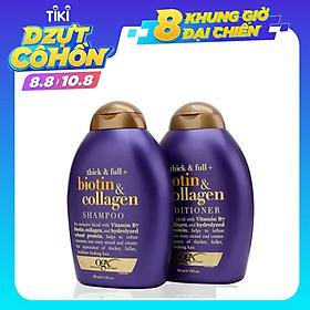 Bộ Dầu Xả Và Dầu Gội Ogx Biotin & Collagen 385ml