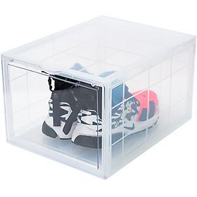 Combo 10 hộp đựng giày nhựa cứng cao cấp cửa mở nam châm   có thể tháo rời được