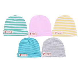 Combo 5 mũ sọc màu Mintuu MT6071 (0-6 tháng)