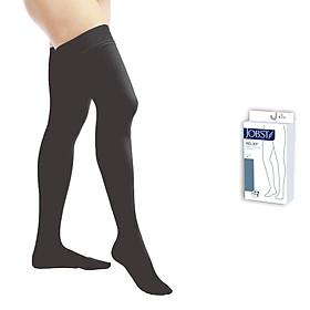 Vớ y khoa đùi Hỗ Trợ Điều Trị suy giãn tĩnh mạch chân JOBST Relief chuẩn áp lực 20-30mmHg (đen, kín ngón) (tất y khoa)