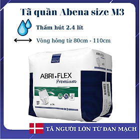 [Thấm hút 2.4 lít] Tã quần người lớn Abena Abri Flex M3 (14 miếng) - Nhập khẩu từ Đan Mạch
