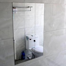Giấy dán tường kiểu gương trang trí hoặc làm gương soi kích thước 1 tấm 15 cm x 15 cm dày 1 mm