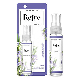 Xịt Khử Mùi Refre Natural Rosemary Hương Hương Thảo (30ml)