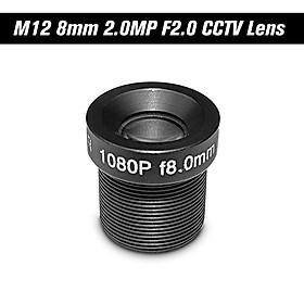 "HD 2.0Megapixel 2MP 8mm M12 CCTV Board Lens IP Camera Lens F2.0 Fixed Iris M12*P0.5 1/2.7"" Image Format 25° Viewing"