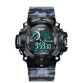 Đồng hồ điện tử nam KASAWI KB650 PHONG CÁCH QUÂN ĐỘI đèn led ban đêm Đồng hồ thời trang Mặt số lớn Đa chức năng Thể thao ngoài trời Đồng hồ điện tử kỹ thuật số