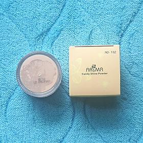 Phấn phủ bột kiềm dầu Aroma Candy Shine Powder Hàn Quốc 10g No.102 Da sáng  tặng kèm móc khoá-4