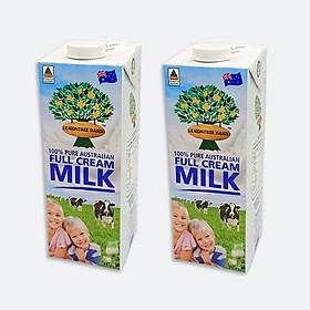 Combo 2 hộp Sữa tươi nguyên chất nhập khẩu từ Úc - Lemon Tree (2 x 1 Lít)