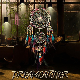 Five Rings Dreamcatcher Home Decor Hang Handmade Wind Chime Pendant Gift