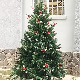 cây thông 3 lá cao 90cm(tặng kèm 2 dây kim tuyến và 1 ngôi sao)