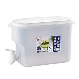 Bình nước tủ lạnh 3,5 lít có vòi chuyên để tủ lạnh siêu tiện lợi nhựa an toàn