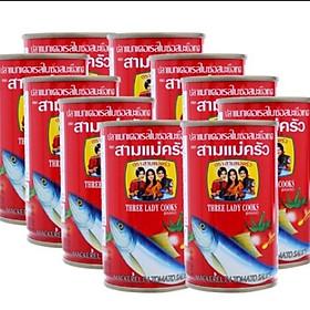 Combo 10 hộp Cá nục sốt cà 3 Cô Gái Hộp 155g (Bao Bì Mới)