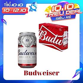 Thùng 24 Lon Bia Budweiser (330ml/ Lon)