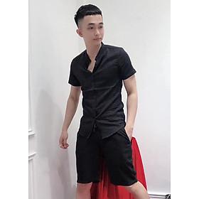 Bộ quần áo đũi nam cổ tàu siêu chất